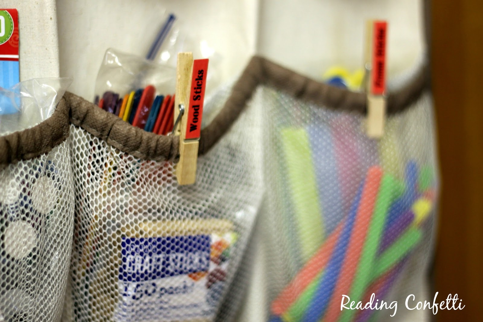 Shoe organizer to organize craft supplies