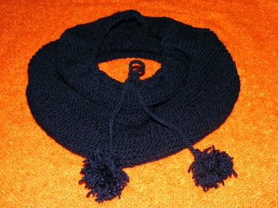 fular circular handmade tricotat manual acril