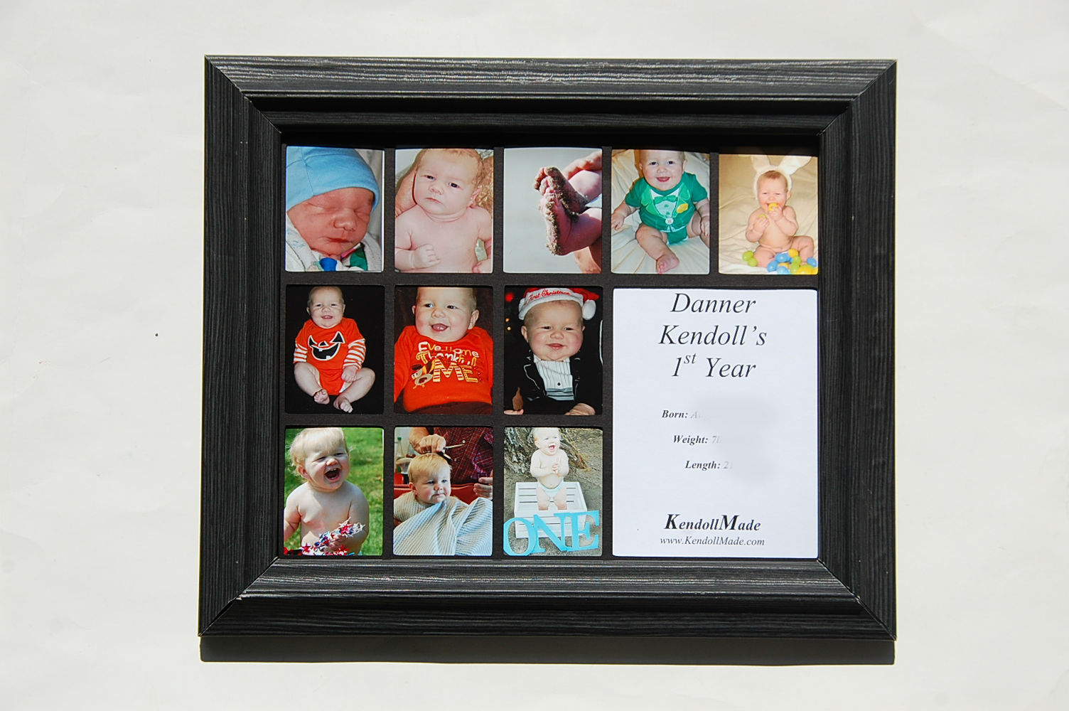 KendollMade: Babies 1st Year Picture Frame Collage