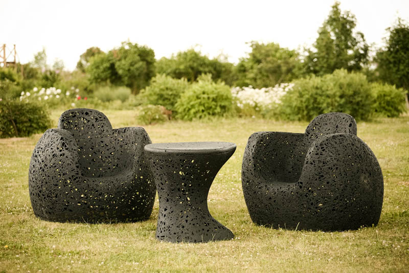 if it 39 s hip it 39 s here archives modern furniture made from volcanic rock by maffam freeform. Black Bedroom Furniture Sets. Home Design Ideas