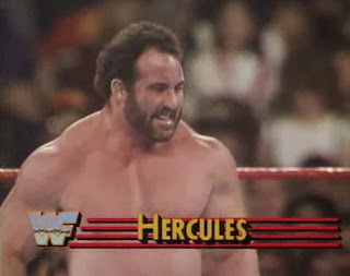 WWF / WWE: Wrestlemania 5 - Hercules battled King Haku in the opening contest