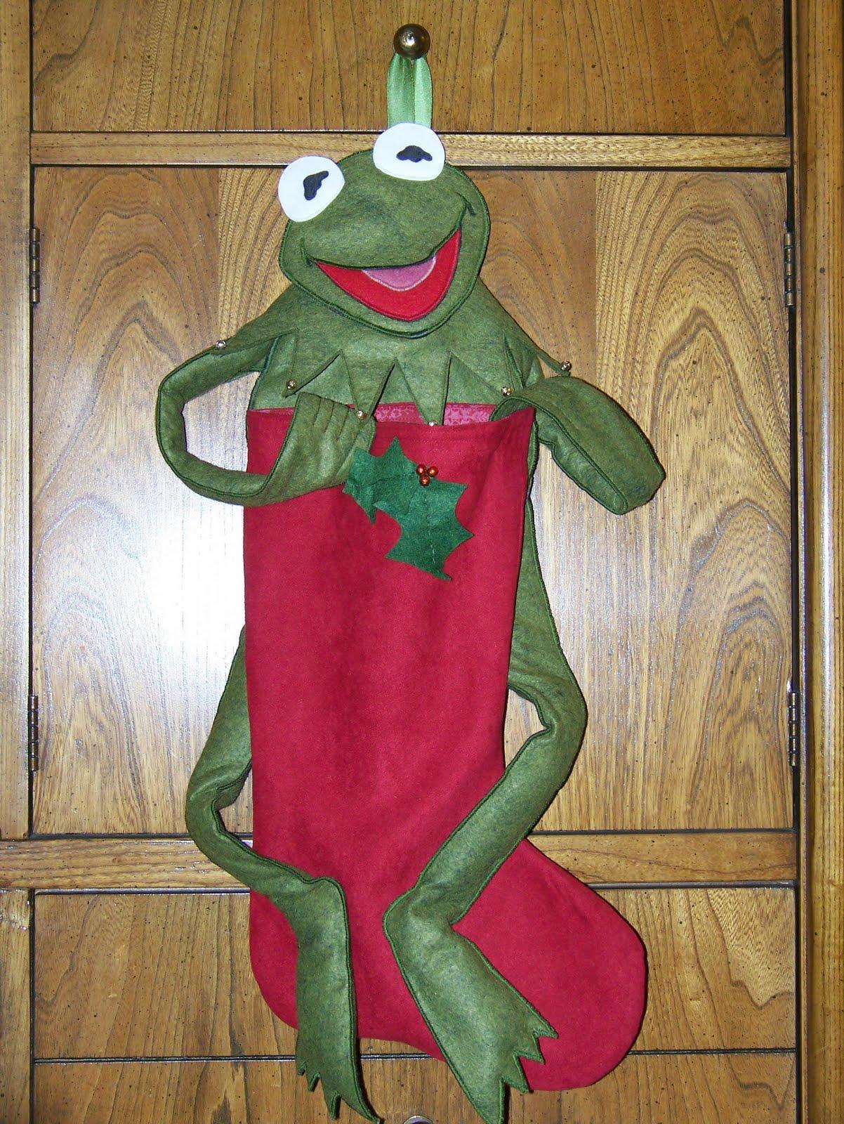 the momoo: Kermit Christmas Stocking