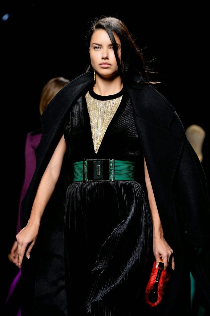 Supermodel @ Adriana Lima - Balmain Runway Show in Paris