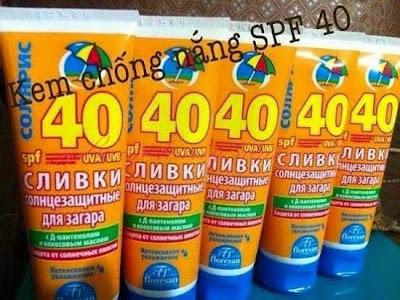Kem chống nắng Floresan SPF 40 xách tay nga