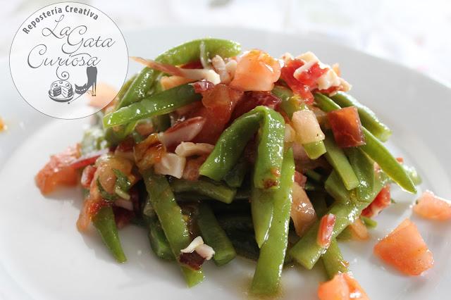 La gata curiosa ensalada de judias verdes con jamon - Como preparar las judias verdes ...