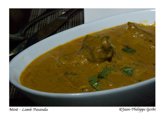 Image of Lamb Pasanda at Mint Indian restaurant in NYC, New York