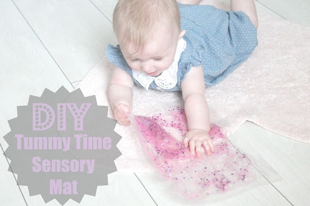 Tutorial for DIY tummy time sensory mat for babies