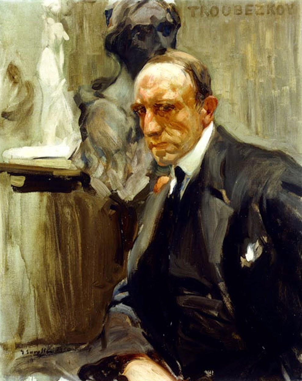 Retrato de Troubetzkoy Scowling, Retratos de Joaquín Sorolla, Pintor Vaslenciano, Joaquín Sorolla Bastida