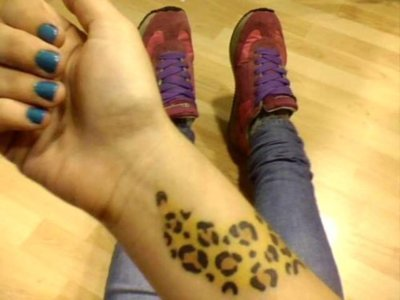 Cheetah Print Tattoo