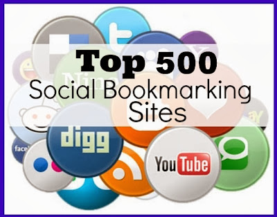 List of 500 Social Bookmarking Sites Build Backlink Dofollow