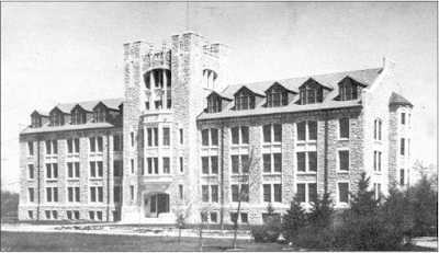 The Tier Building at the University of Manitoba, built in 1932, is another example of Late or Modern Gothic architecture, which is also known as Collegiate Gothic because of its frequent use on university campuses. Photo courtesy of the City of Winnipeg Historical Report.