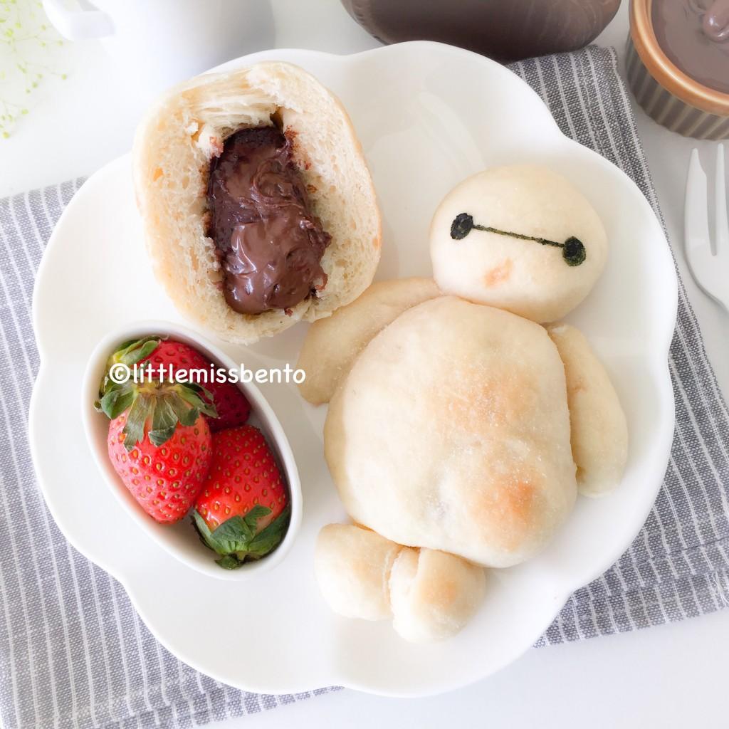 love Kawaii: Baymax Nutella Milk Bread