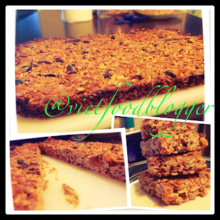 granola bars, sunflower seeds, appricot, honey ,