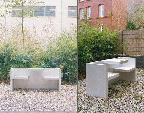 Tafel the Bench Table Design Outdoor Use