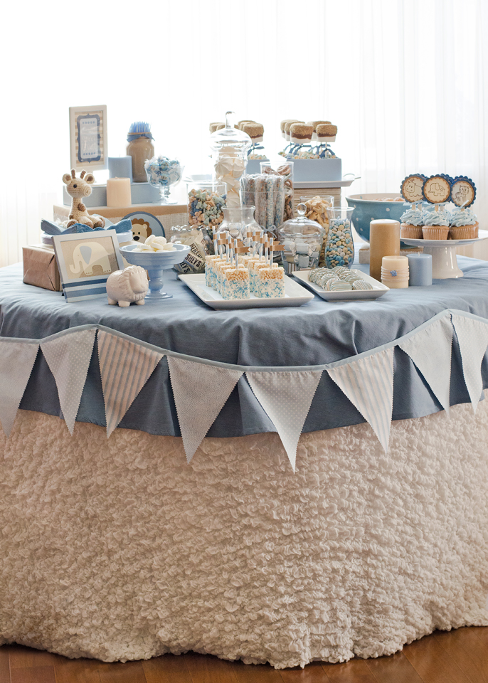 seriously daisies blue brown jungle baby shower