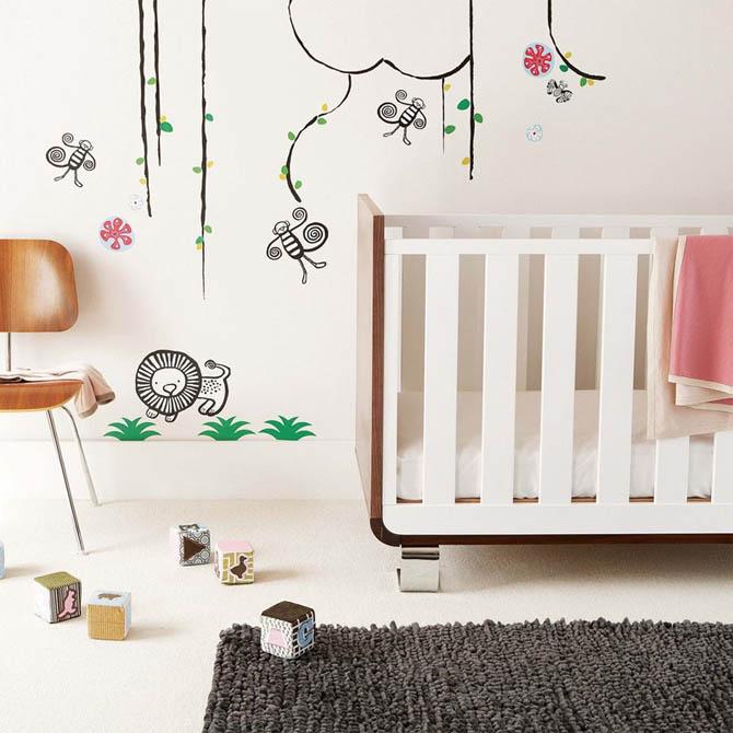 Ideas para la Decoración de la Pared para Cuartos de Bebés