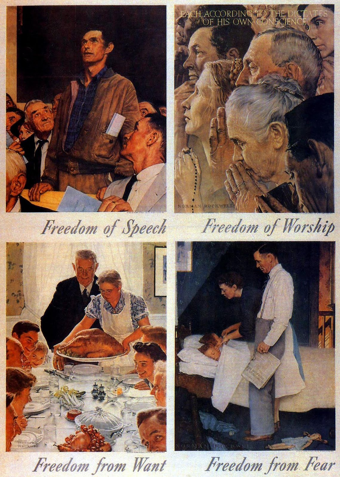 """the four essential human freedoms He named four """"essential human freedoms  envisioning peace 6 fdr's four freedoms speech: a call for human rights """"everywhere in the world."""