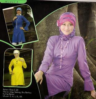 Mazaya Busana Muslim Ungu Biru benhur Kuning kenari