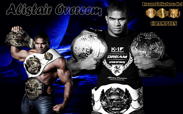 k-1 dream strikeforce fighter alistair overeem 3 belts championship wallpaper image