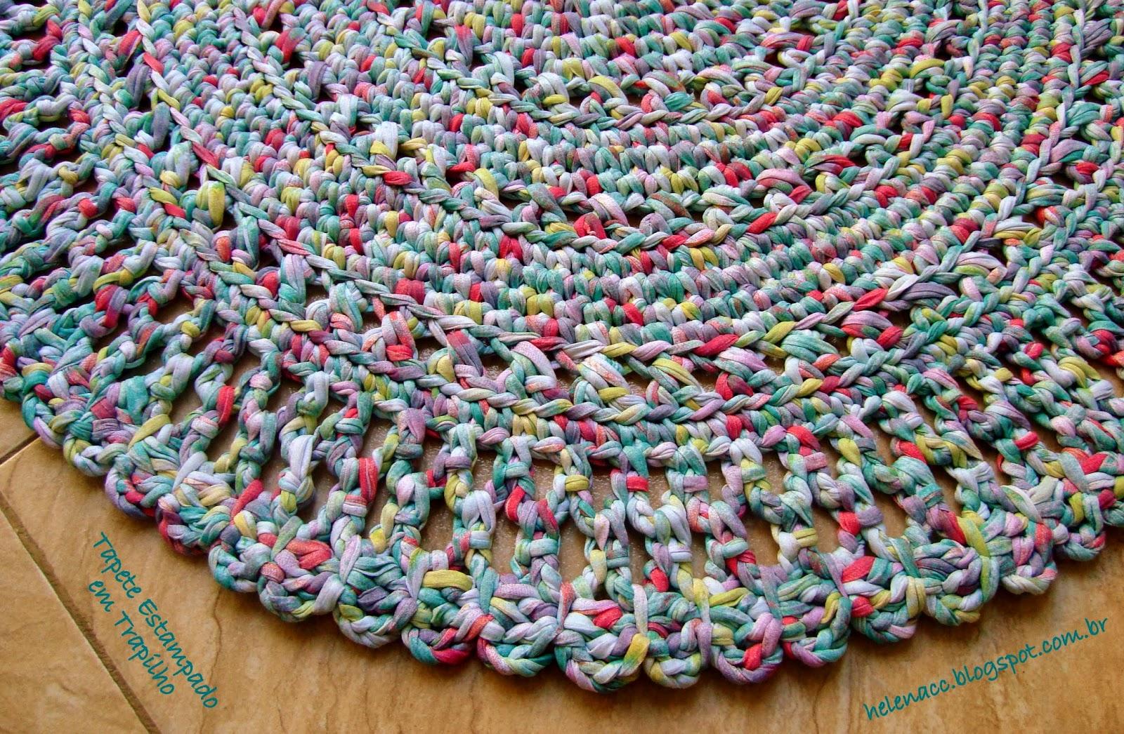 Вязать коврик из ткани