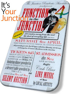 Junction Residents Association fundraiser: Function in the Junction, April 6, 2013, West Toronto Masonic Temple, collage