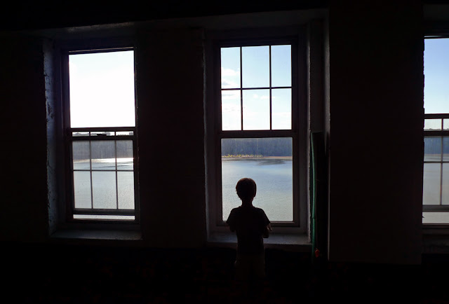 view of the Hudson from Castle Village parking garage, Hudson Heights, NYC © 2012 Amber Schley Iragui
