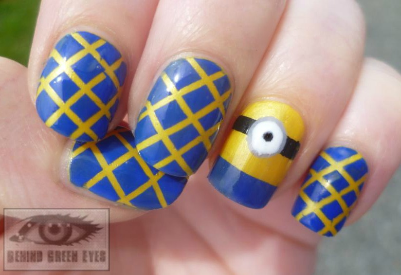 Behind Green Eyes Deable Me 2 Minion Nail Art