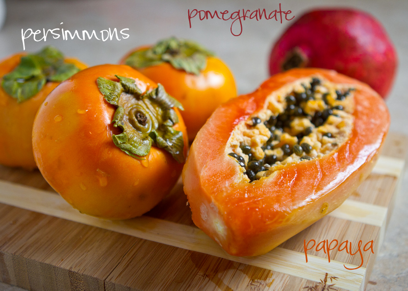 Chasing Some Blue Sky: Persimmon and Pomegranate Fruit Salad