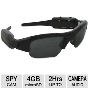 Night Owl CS-SUNB-4GB Covert Video Sunglasses - 640 x 480, 30 FPS