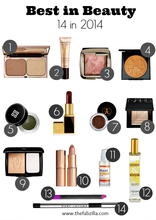 Best in Beauty 2014, Best Beauty Products, Best Makeups, Best Skincare,product review, tom ford, givenchy, guerlain, hourglass, marc jacobs, murad, anastasia, nars, l'occitane