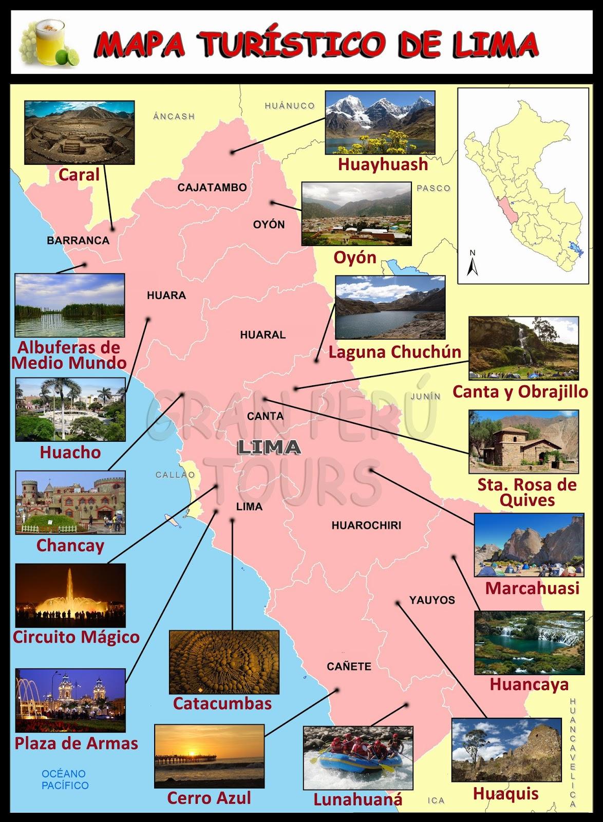 Mapa Turistico de Lima  Mapa Turistico de Lima