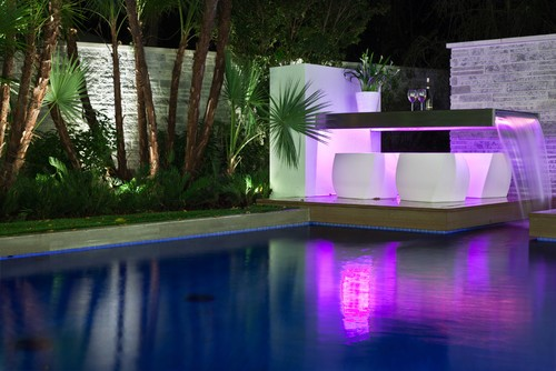 Trend homes luxury lighting swimming pool design - Swimming pool lighting design ...