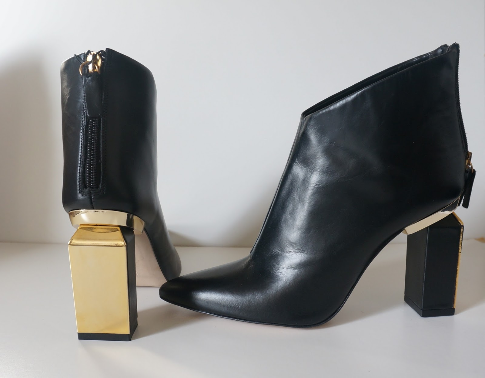 Ankle Boots With Gold Heel