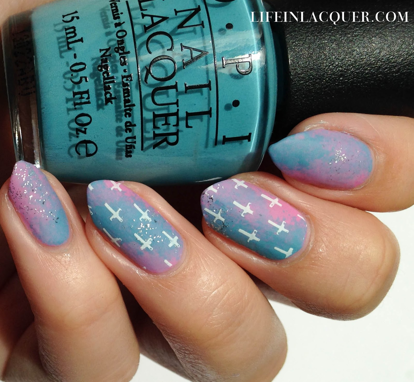 Pastel Galaxy Nail Art With Stamping tutorial