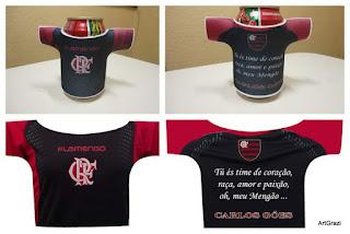 Porta Latas Personalizado do Flamengo