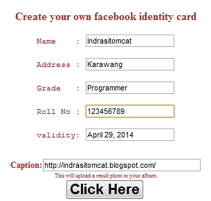 Tutorial Cara Membuat ID Card Facebook | BERIKABAR.COM