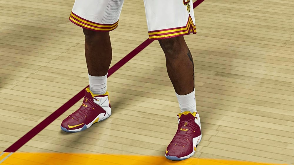 Nike LeBron 12 Cavs NBA2K15