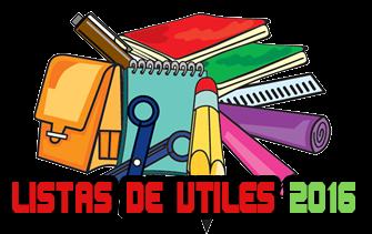 LISTAS DE UTILES 2016