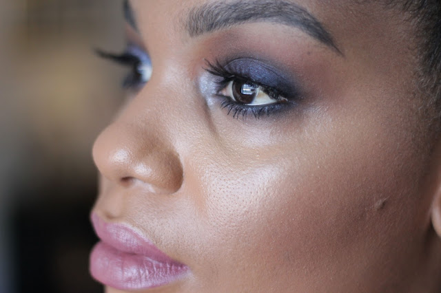 smokey blue eyes for black brown women woman