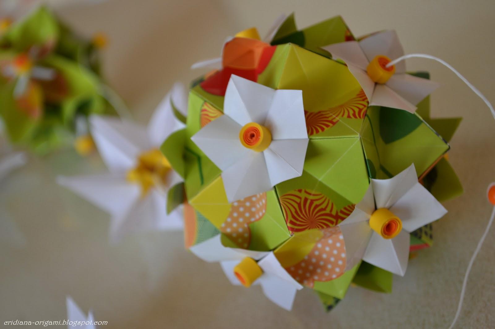 Origami Spring 2773219 Nut Claras Paper Garden Kusudama