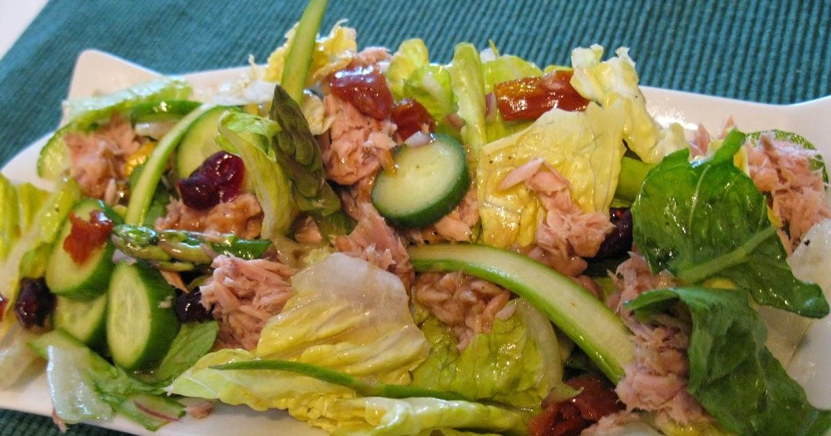 ma cuisine sans pr tention salade au thon avec vinaigrette l rable. Black Bedroom Furniture Sets. Home Design Ideas
