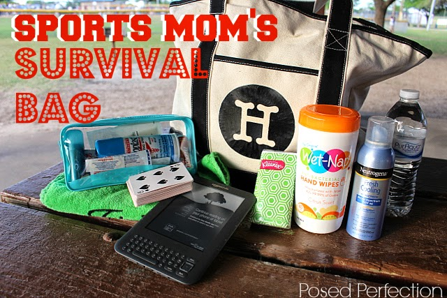 Sports Mom's Survival Bag-Top 10 Crafts/DIY/Tips of 2014