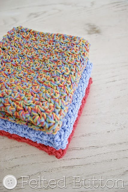 free crochet pattern textured washcloth