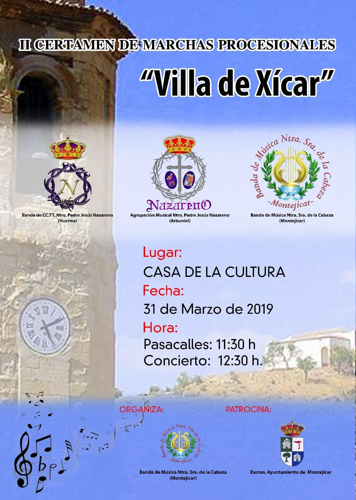 """DOMINGO 31 MARZO 2019. II CERTAMEN DE MARCHAS """"VILLA DE XÍCAR"""" EN MONTEJÍCAR (GRANADA)"""