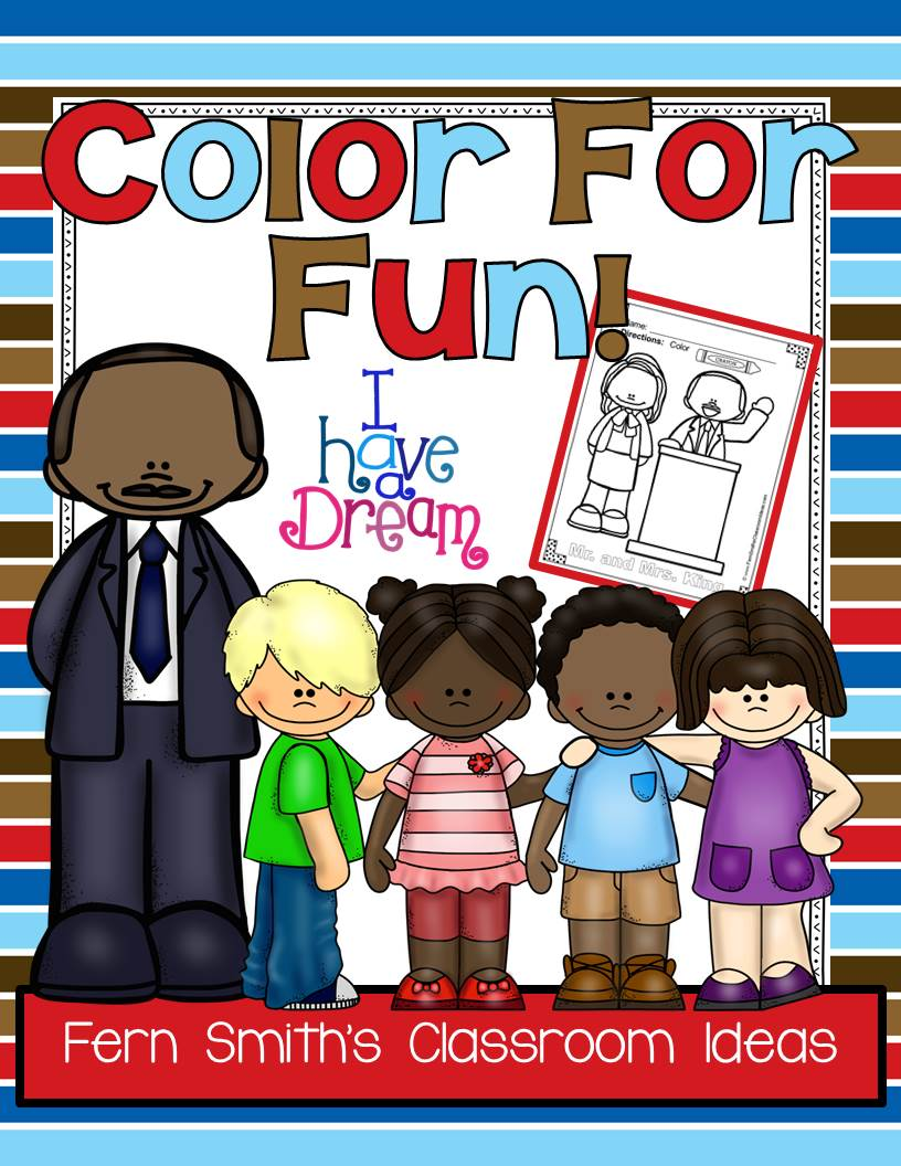 Fern Smith's Classroom Ideas FREE Martin Luther King, Jr. Color For Fun Printable Coloring Pages