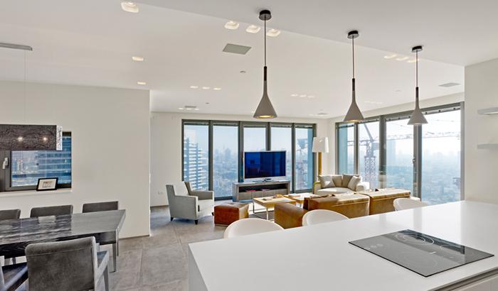 jardines y casas interiores de apartamentos modernos