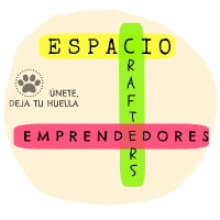 """• Salimos en el """" Espacio de Crafters y Emprendedores """" by ElPatiodeFranky. """" Deja tu huella """""""