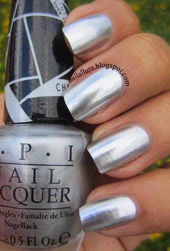 OPI Push and Shove Chrome Nail Polish