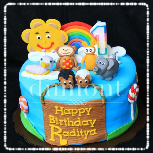 Dumont Cake Baby TV cake for Radityas birthday