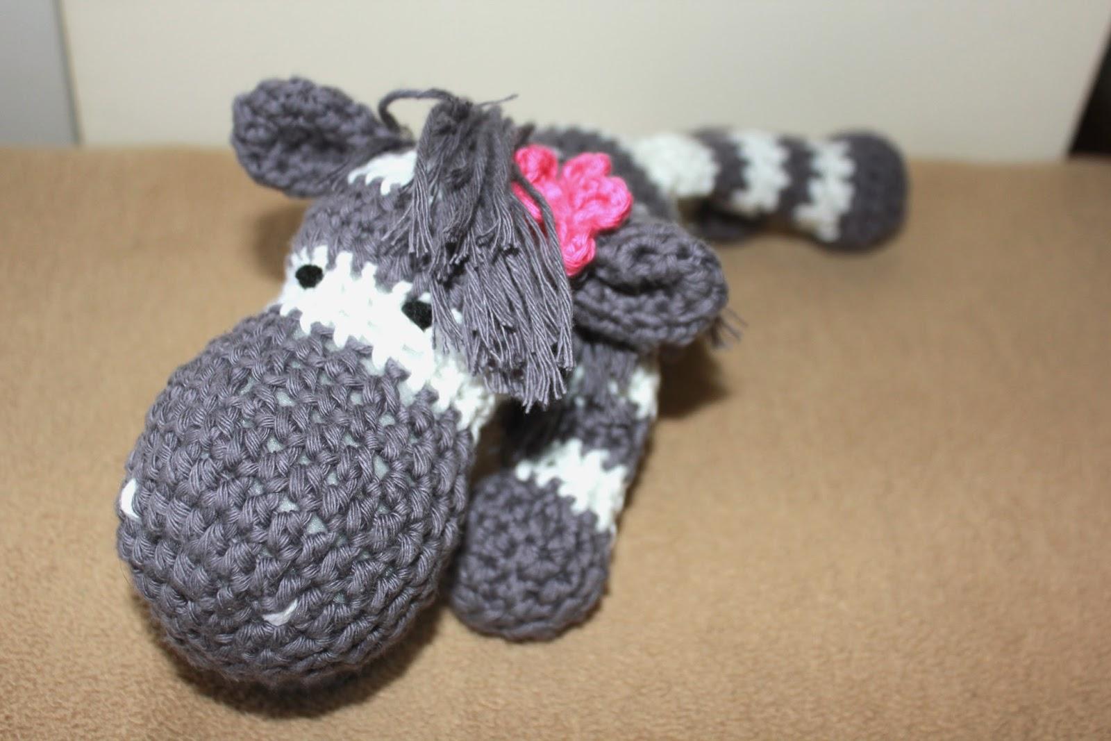 Zebra na szydełku, szydełkowa zebra, amigurumi